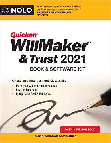 Compare Textbook Prices for Quicken Willmaker & Trust 2021: Book & Software Kit 2021 Edition ISBN 9781413327991 by Nolo, Editors of