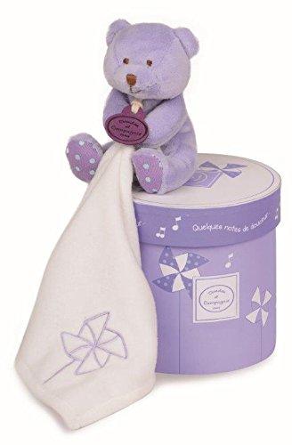 Doudou et Compagnie boite a musique Vol au vent ours violet 11cms DC2810