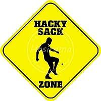ハッキーサックゾーン 金属板ブリキ看板警告サイン注意サイン表示パネル情報サイン金属安全サイン
