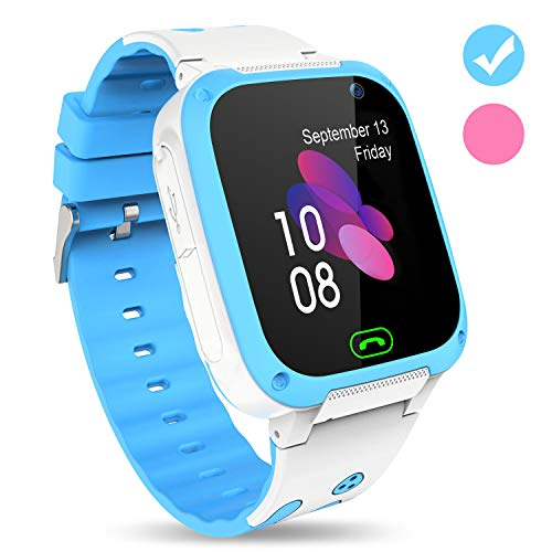 Karaforna Kids Smart Watch Phone – Boys Girls Smartwatch with Camera Games Touch Screen SOS Call Voice Chatting Flashlight Kid Watches Birthday Gifts for 3-12 Year Old Children Learning Toys (Pink)