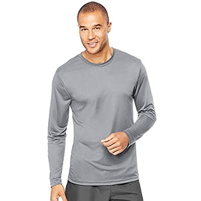 Hanes Cool DRI Performance Men`s Long-Sleeve T-Shirt Graphite