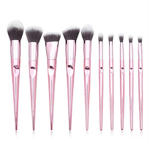 Pinceaux Ensembles, 10 Pièces Professionnelle Fond de Teint Poudre Correcteurs Ombre à paupières Fard à Joues lèvres Sourcils Peigne pinceaux de Maquillage Facial Maquillage Kits de Brosse