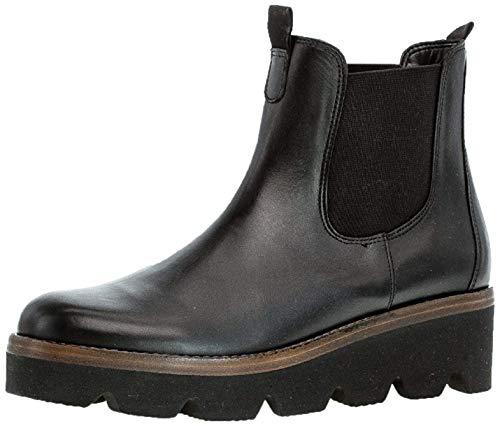 Gabor Damen Chelsea Boots 34.720, Frauen Stiefelette,Stiefel,Halbstiefel,Schlupfstiefel,gefüttert,Winterstiefeletten,schwarz (Cognac),40 EU / 6.5 UK