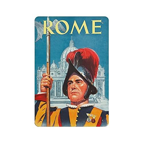 Roma 1 dipinto in ferro retrò illustrazione personalizzata arte avvertimento segno di stoccaggio camera bar decorazione della parete