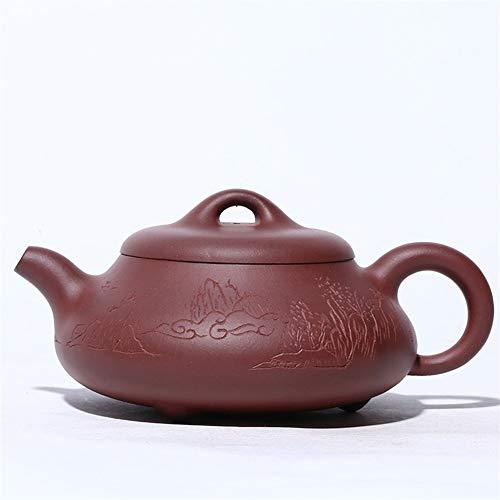 DANJIA theepot van de beroemde bol, handgemaakt, van steen, landschap, theepot van klei, violet, Ersen, Kung Fu