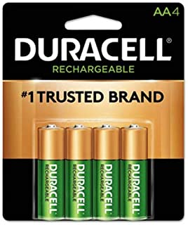 Duracell Precharged Recharg. Battery, AA, NiMh, PK4
