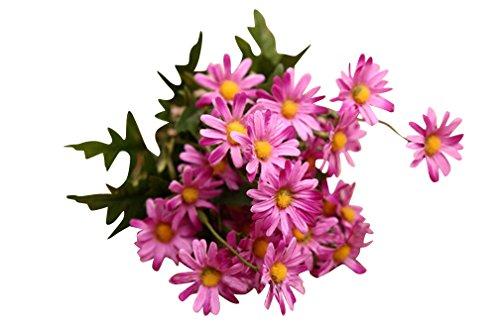 6 Stück Schön Gänseblümchen Künstlich Blumen Für Hochzeit Party Fest Haus Büro Bar Dekor Lila
