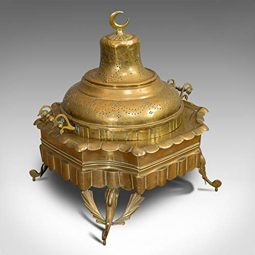 Gran hoyo islámico antiguo, árabe, latón, ceremonial bras