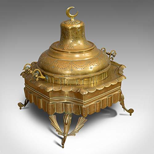Large Antique Islamic Fire Pit, Arabic, Brass, Ceremonial Brazier, Circa 1900