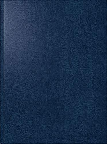 BRUNNEN 1079760301 Buchkalender Modell 797, 2 Seiten = 1 Woche, 16,8 x 24,0 cm, Miradur-Einband blau, Kalendarium 2021