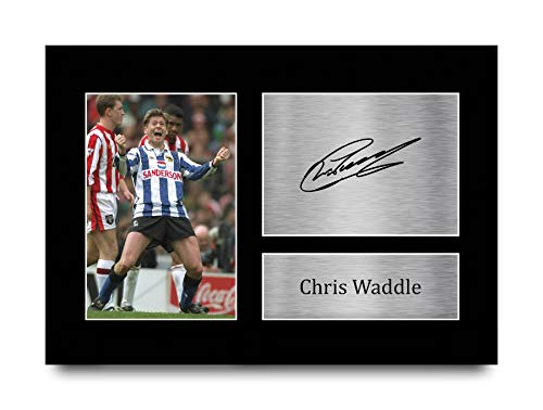 HWC Trading A4 Chris Waddle Sheffield Wednesday Gifts Printed Signed Autograph Picture for Fans and Supporters - A4