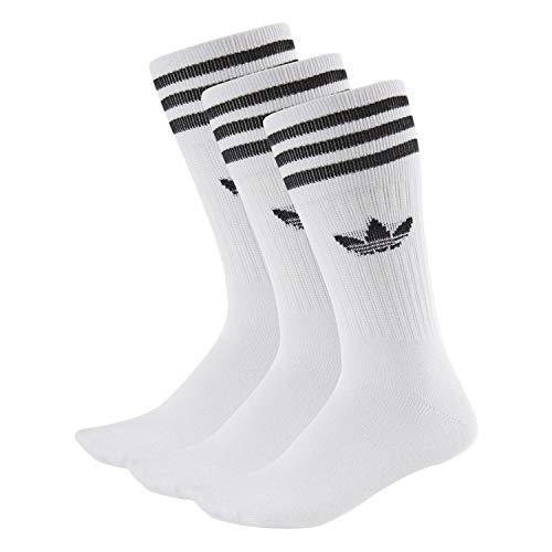 adidas Solid Crew Socks Socken 3er Pack (39-42, weiß/schwarz)