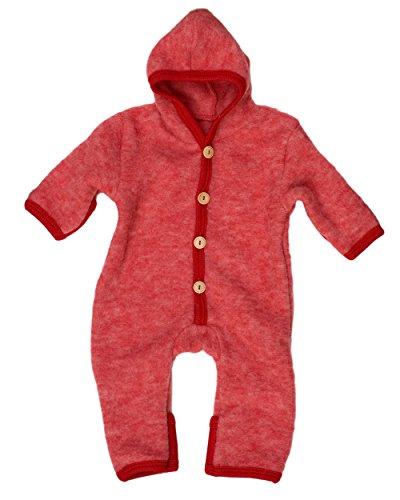 Cosilana Baby Overall aus Wollfleece kbT (74/80, Rot-Melange)