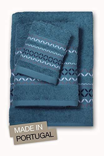 jilda-tex Premium Handtuch Duschtuch Frottierware Set 100% Baumwolle Verschiedene Designs (6-TLG-Set (2xGästetuch/2xHandtuch/2xDuschtuch), Madrid Grün)