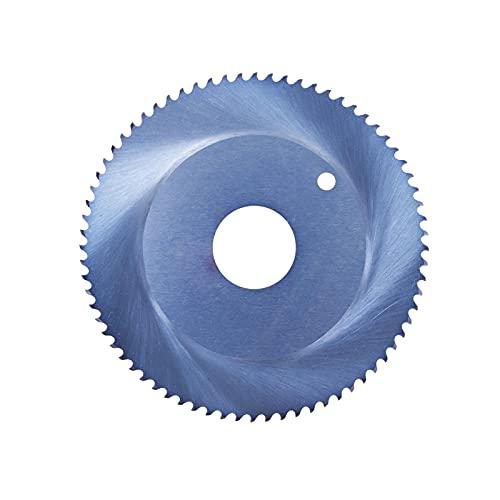 1 pieza 68 / 80x16mm hoja de sierra orbital de acero de alta velocidad hoja de corte de metal con revestimiento azul nano hoja de sierra circular de acero inoxidable-80x16x2x40T