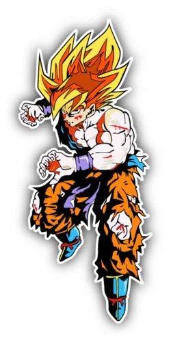 Dragon Ball Z Goku Fire Fighter Cartoon Vinyl Decal Sticker - Sticker Graphic - Waterproof - Fade Resistant Die Cut