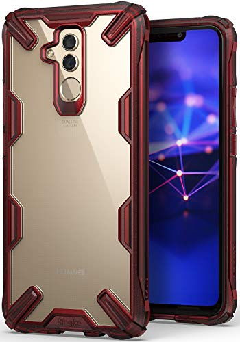 Ringke Fusion-X Compatible with Mate 20 Lite Case Ergonomic Transparent Military Drop Tested Defense Hard PC Back TPU Bumper Impact Resistant Protection Cover for Huawei Mate 20 Lite - Ruby Red