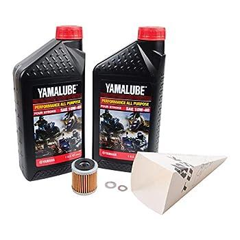 Tusk 4-Stroke Oil Change Kit Yamalube All Purpose 10W-40 - Fits  Yamaha YFZ 450 2004-2005