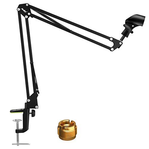 Soporte ajustable para micrófono con brazo de suspensión, Moukey soporte para micrófono,...