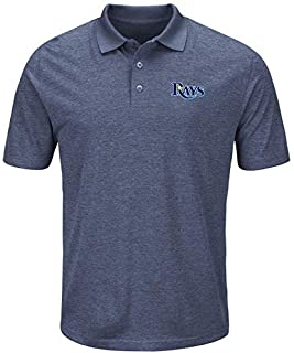Majestic Majestic Tampa Bay Rays Navy Endless Flow Cool Base Polo シャツ ポロシャツ 【並行輸入品】
