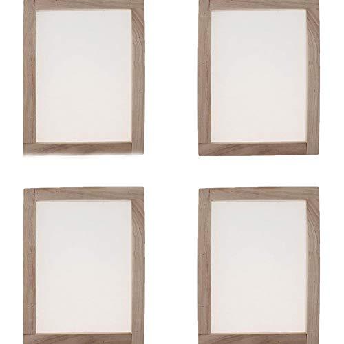 4 piezas de marco de papel tradicional para hacer papel de madera...