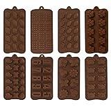 LIXILI 8 Paquete Silicone Chocolate Candy Molds Set: Moldes para Hornear De Silicona para Moldes De Silicona para Bombas De Grasa En La Fiesta De Aniversario De Boda De Cumpleaños