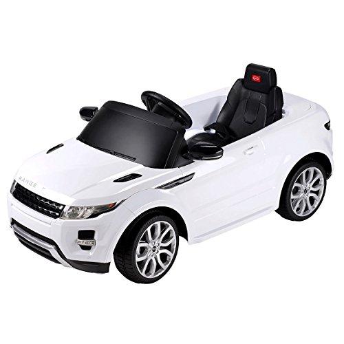 Charles Bentley Kinder Kinder Range Rover Evoque Lizenzierte 12V-Fahrt auf Elektro-Auto - Fußschalter in Weiß