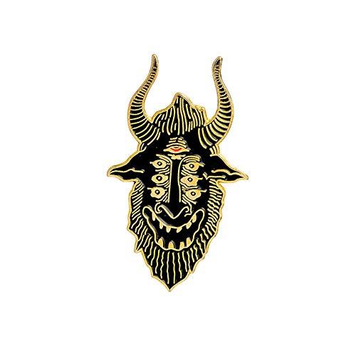 Hände des Schicksals Satan sieht alle Sargnadeln Punk-Abzeichen Broschen Lederjacken Rucksackzubehör