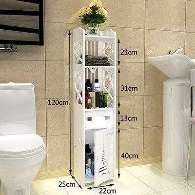 ADSIKOOJF Fashion moderne vloer staande toiletkast vouwen badkamer opslag rek wastafel douche plank hoek kast