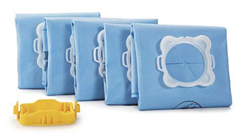 Rowenta Lot de 5 sacs Wonderbag Original Mint Aroma, Compatibles avec les aspirateurs traineaux, Adaptateur breveté universel, Très résistant, Haut pouvoir filtrant WB415120
