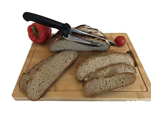 Portabest Nova Best Diamant-Messer mit Abstandshalter, sehr scharf,Fleischmesser,Käsemesser,Edelstahl rostfrei,Brotmesser auch für Camping