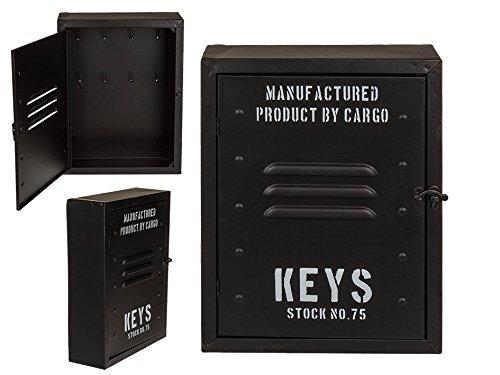 ootb 144222 Boîte à clés en métal, Noir, 30x23x9cm