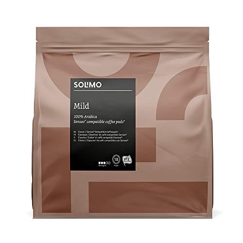 Marca Amazon - Solimo Cápsulas Mild, compatibles con Senseo*- 90 cápsulas (5x18)