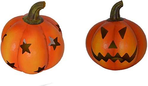 QVC Metall Garten Halloween Kürbis Laterne Dekoration (1 Stück, gruseliges Gesicht), Stern