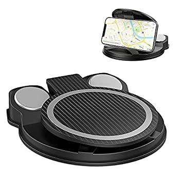 TIANLI Cell Phone Holder for Car Reusable Silicone Car Dashboard Holder Mount for Cell Phone Washable Sticky Gel Phone Stand Automobile Cradles Compatible with iPhone Android Black
