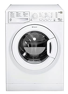 Hotpoint WDAL8640P 8 Kilogram/ 6 Kilogram Washer Dryer with 1400 RPM White A Rated