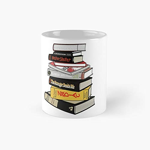 True Crime Book Pile Classic Mug Best Gift Funny Coffee Mugs 11 Oz