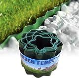 Bordo per prato da giardino, Bordo per paesaggio in plastica Flessibile per recinzione decorativa fai-da-te Bordo per aiuola di fiori per prati paesaggistici Patio Pathway (9 m x 10 cm)