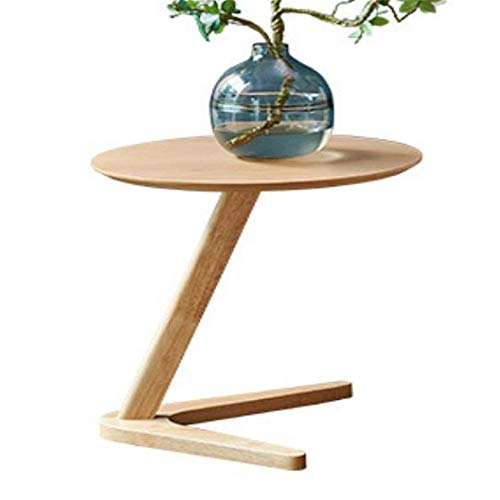 YGWE Side Table Side Table Creative Round Corner Living Room Small Coffee Table Nordic Solid Wood Small Coffee Table Multifunctional Living Room Furniture (Color : Natural, Size : 50x50x50cm)