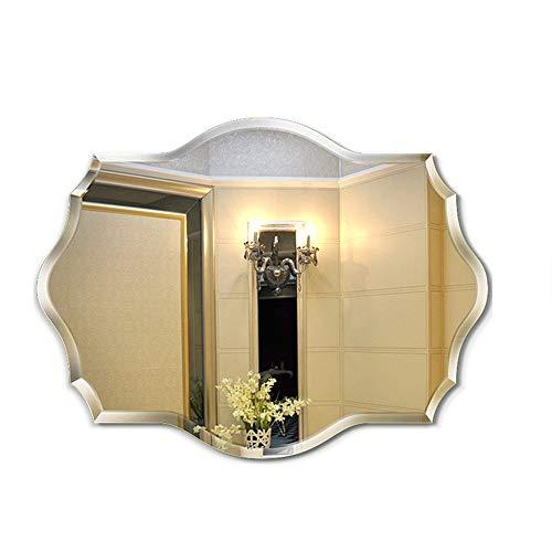 AOIWE Espejo de baño de estilo europeo, para colgar en la pared, 3 tamaños (tamaño : 45 x 60 cm)