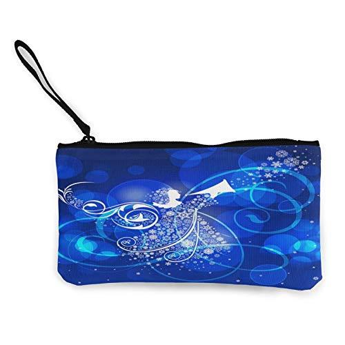 Angel Bokeh - Bolsa de lona con cremallera, bolsa de cosméticos de viaje, multifunción, bolsa de maquillaje, bolsa de teléfono móvil, paquete de lápices con asa