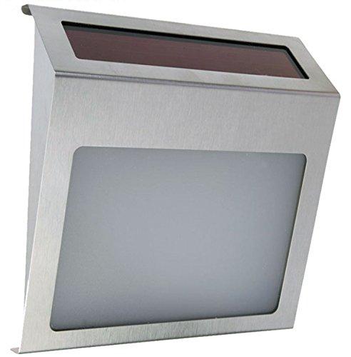 j-creater à énergie solaire 3 LED Panneau en acier inoxydable Street Road House Adresse mur Nombre