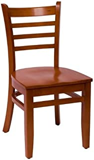 BFM Burlington Ladder Back Chair Cherry Cherry Wood Seat Model Lwc101Chchw