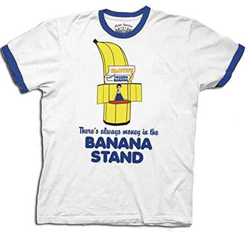 Adult Blue Arrested Development Always Money in the Banana Stand Crewneck Fleece