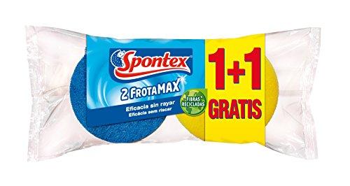 Spontex - Estropajo Frotamax No Raya, 2 Unidades