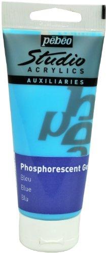 Pébéo - Pintura fosforescente en gel (100 ml), color azul