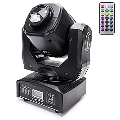 UKing Stage Lights 60W LED Moving Head Disco Light DMX512 Prism Effects with Functional Remote Sound Active DJ Lights 9/11 Channel for Bar KTV Wedding Party Stage Lighting Shows