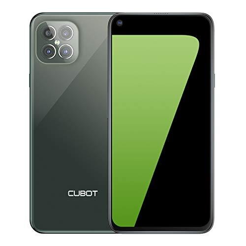 CUBOT Smartphone C30 (6,4 pulgadas FHD+ Punch-Hole, 8 GB de RAM, 256 GB de memoria, 4200 mAh, 48 MP AI Quad cámara, NFC), Android [versión alemana] (verde)