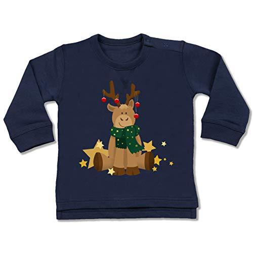 Shirtracer Weihnachten Baby - süßer Elch - 18/24 Monate - Navy Blau - Kind - BZ31 - Baby Pullover