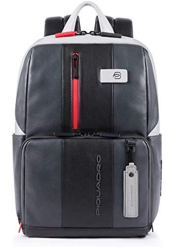 Piquadro Urban Laptoprucksack mit iPad Fach & Diebstahlsicherung 39 cm Grey/Black